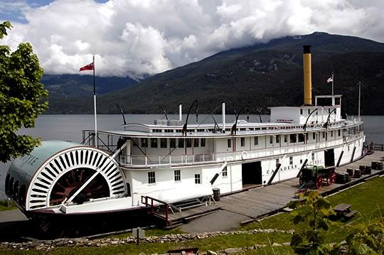 El SS Moyie, Kaslo, Kootenays, Canadá