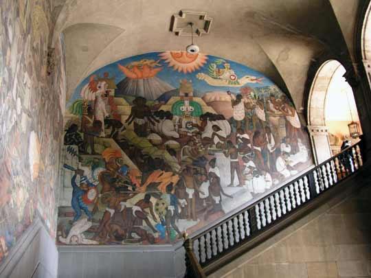 Photos from mexico df mexico city zocalo metropolitan for Mural de rivera
