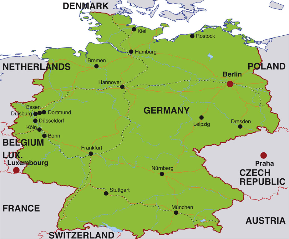 Introduction To Germany For Travelers Photos And Hostels - Germany map 2015
