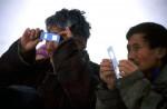 Locals watching the Eclipse