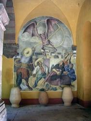 El Vampiro, mural from Pedro Martinez, Cultural Centre