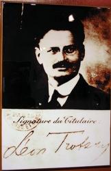 Trotsky's signature