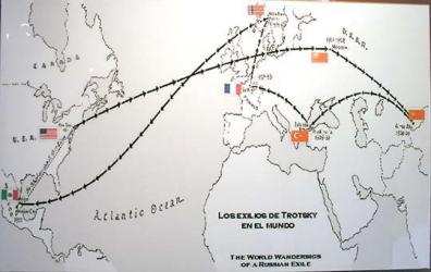 Trotsky travel map