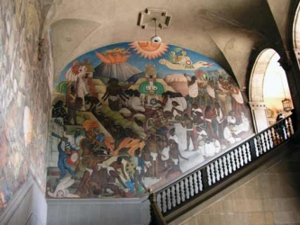 Diego Rivera Mural, National Palace, Mexico City, DF