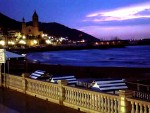 Sitges beach @ night